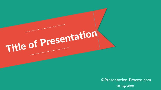 Flat design templates powerpoint title slide title slide with ribbon pronofoot35fo Image collections