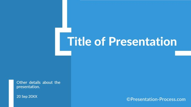Flat Design Templates: PowerPoint Title Slide