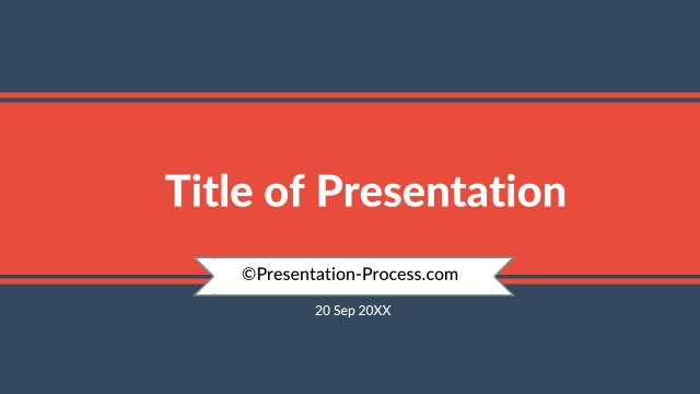 Title Slide with ribbon