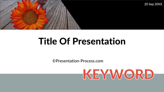 Title Slide with keyword