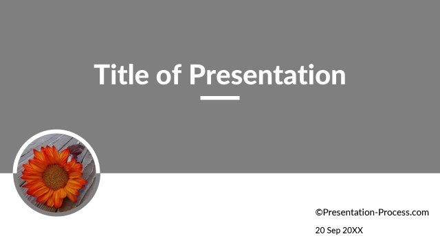 Title Slide with circular image