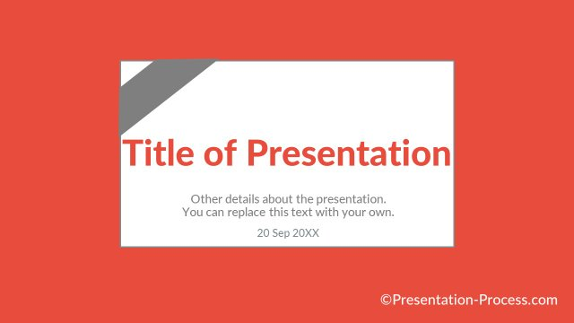 Title Slide with card