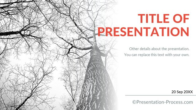 Title Slides in Flat design