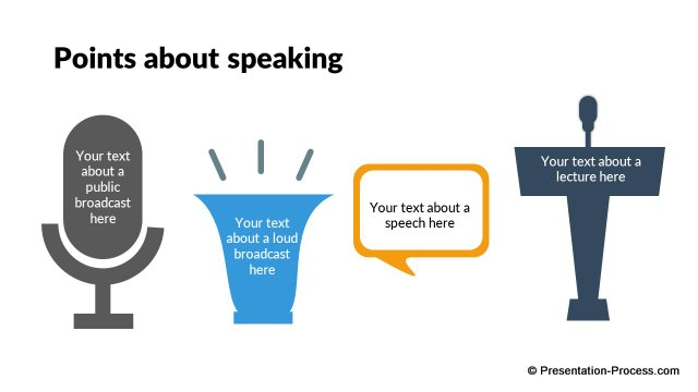 Different points about speaking