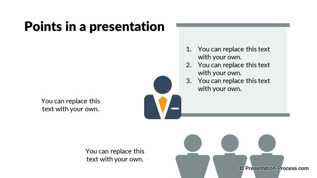 Points in a presentation