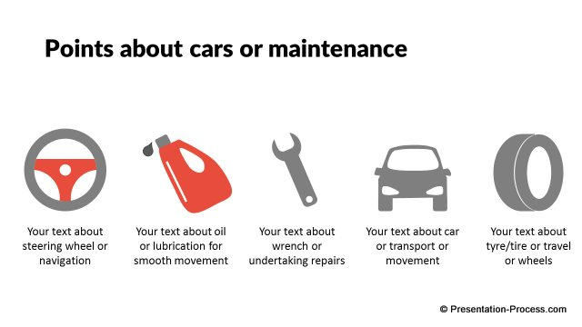 Cars and Maintenance Icons