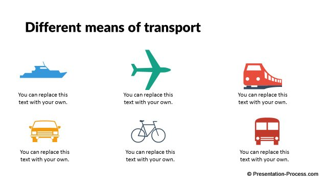 Means of Transport Icons