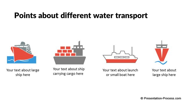 Different water transport