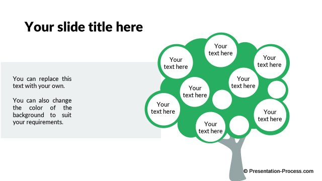 Flat design templates powerpoint tree tree with points toneelgroepblik Image collections