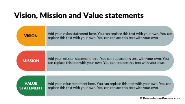Flat design templates powerpoint opening slides for Vision statement template free