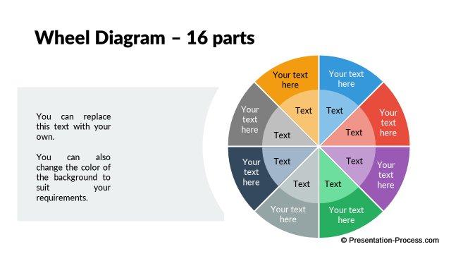 pptx flat design wheel 001