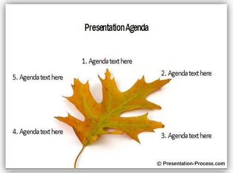 presentation tree leaf agenda