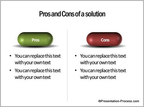 visual idea: recurring theme with 3d pill, Powerpoint templates