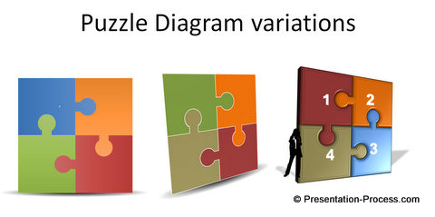 PowerPoint Puzzle Diagrams