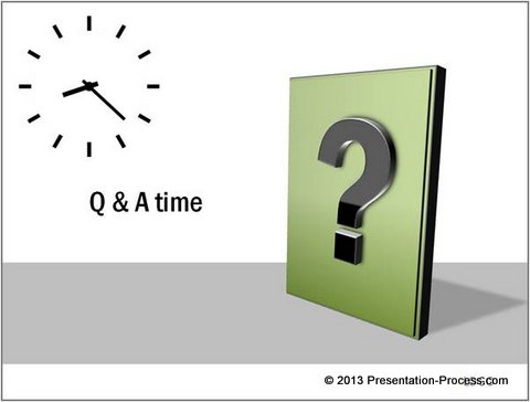 Creative question marks in powerpoint for Question and answer powerpoint template