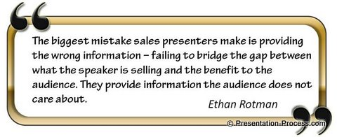 quote on sales presentation