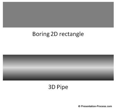 Rectangle to Pipe with 3D Gradients