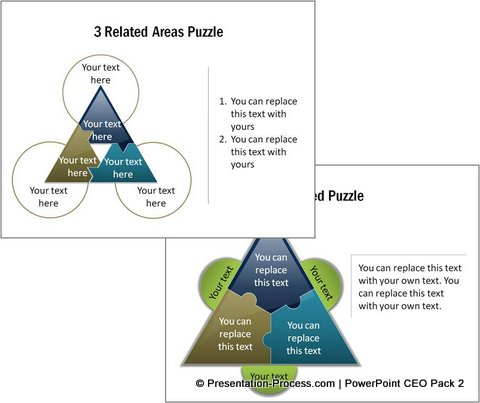 PowerPoint Puzzle Diagrams from CEO Pack 2