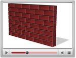 PowerPoint Wall with brick texture