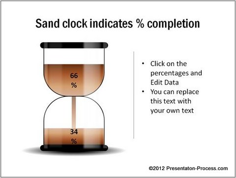 5 PowerPoint Infographics Showing Percentage Completion