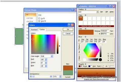 Color picker tool for powerpoint