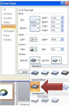 Material Setting for PowerPoint Shape