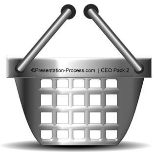 Shopping Basket Clipart in PowerPoint