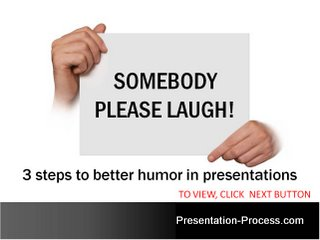 3 Steps to Humor in presentations Image