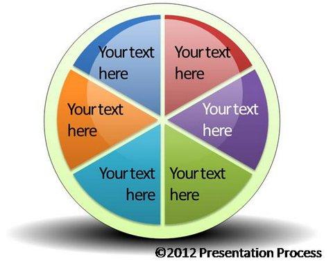 easy spoke diagram template using smartart, Presentation templates