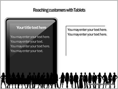 diagram template of a smart tablet