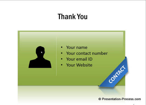 PowerPoint Contact Us Slide