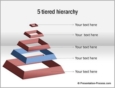 3d powerpoint pyramid in 4 easy steps, Powerpoint templates