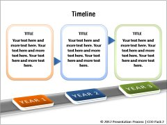 timeline templates from ceo pack, Powerpoint