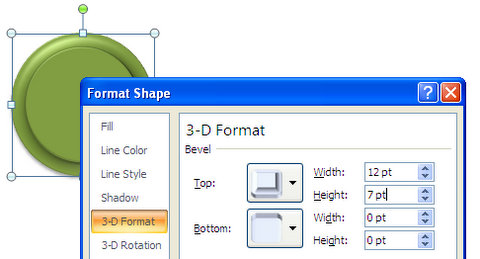 Top and Bottom Bevel Settings