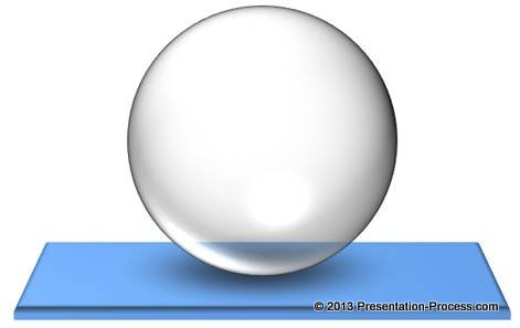 transparent PowerPoint sphere