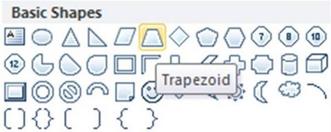 Trapezoid Shape Menu