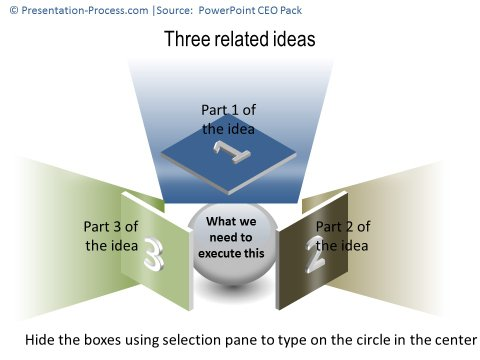 3 Related Areas Template with Hidden Objects