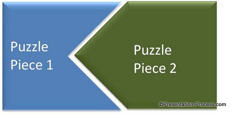 Create puzzle with shape subtract